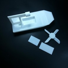 Picture of print of RC boat without electrical components #tinkerfun