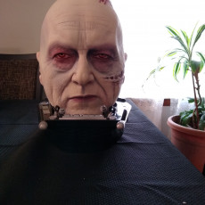Picture of print of Sebastian Shaw Darth Vader head