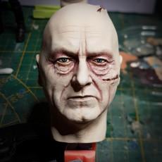 Picture of print of Sebastian Shaw Darth Vader head