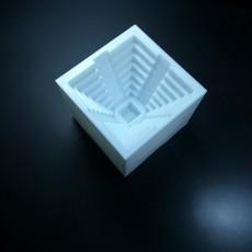 Picture of print of Maya pyramid sand mould / Molde de arena Piramide maya #Tinkerfun