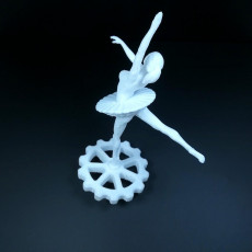 Picture of print of Spinning Ballerina CR-10 Extruder Knob
