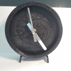 Picture of print of Game of Thrones Clock