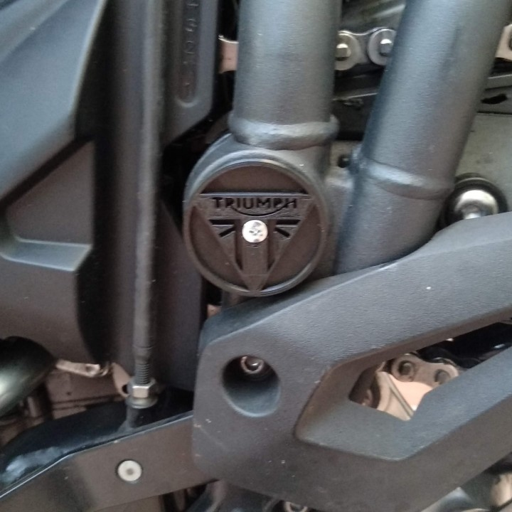 3D Printable Triumph Tiger 800 Swingarm pivot cover by David