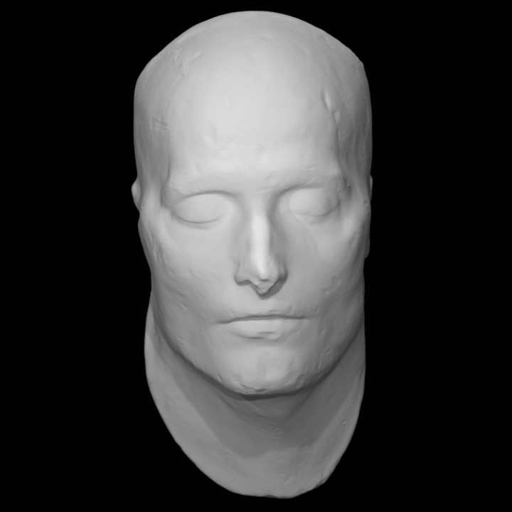 3D Printable Death Mask Of Napoleon By Anatomical Museum