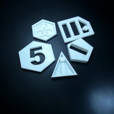 Picture of print of NetRunner Tokens