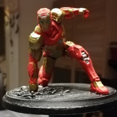 Picture of print of Iron Man MK42 - Super Hero Landing Pose --- with lights