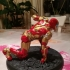 Iron Man MK42 - Super Hero Landing Pose --- with lights image