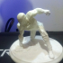 Iron Man MK42 - Super Hero Landing Pose --- with lights print image