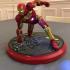 Iron Man MK42 - Super Hero Landing Pose --- with lights print image