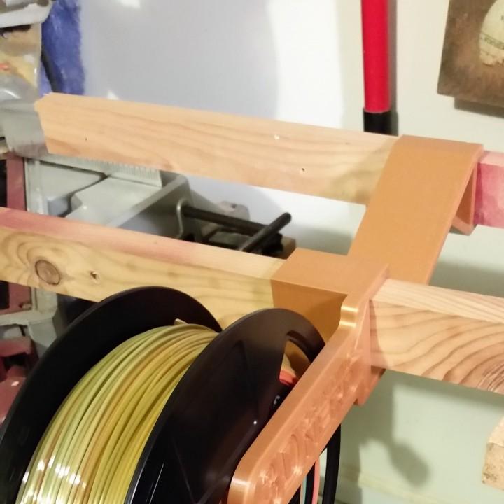 Spool Holder for 3D printing nerd filament shelves