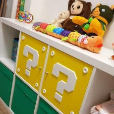 SUPER MARIO QUESTION MARK BLOCK IKEA FOR SHELFS