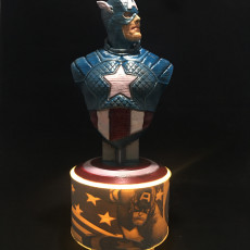 Picture of print of Captain America bust Esta impresión fue cargada por Mark Brown