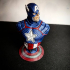 Captain America bust print image