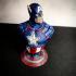 Captain America bust print image