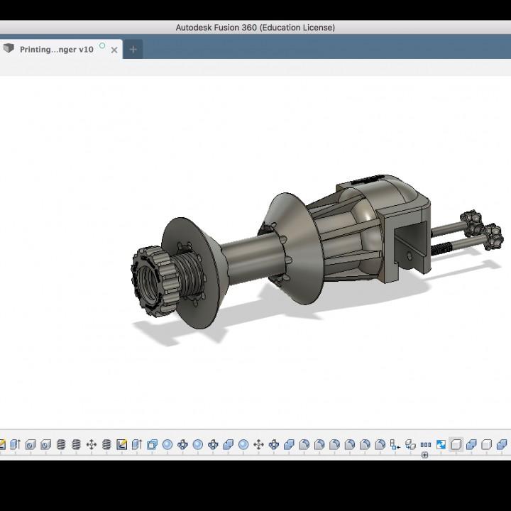 Download Spool holder for cr-10 & 3DPrintingNerd Shelves Da