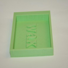 Picture of print of surfboard wax holder
