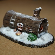 Picture of print of House in a log
