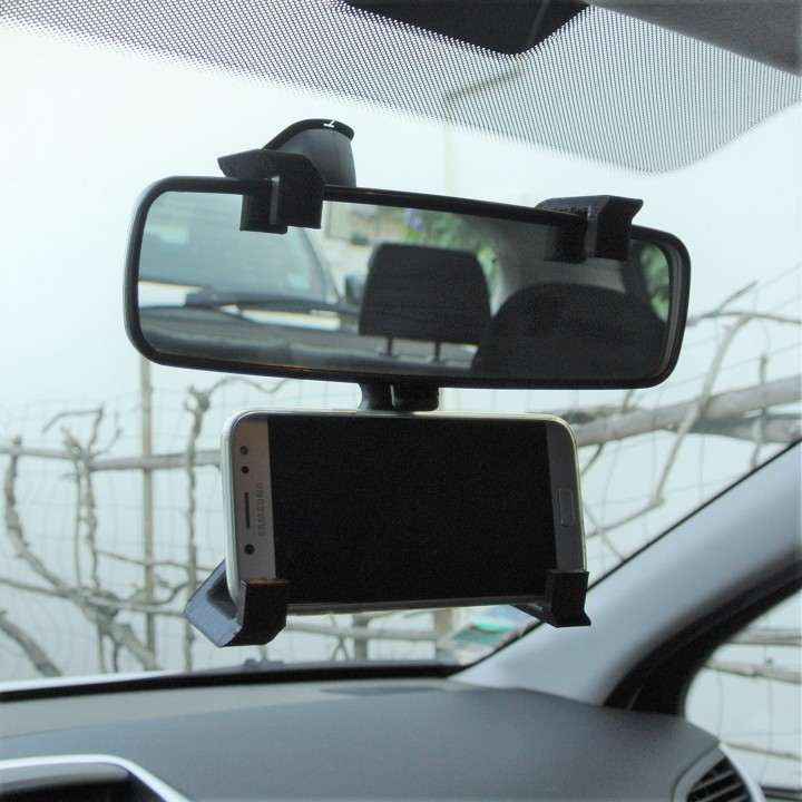 GPS rear-view mirror support