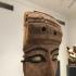 A wooden mummy mask image