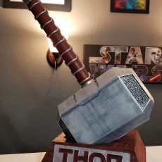 Picture of print of Thor Hammer 1:1 Scale 这个打印已上传 Brannon Pate