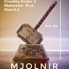 Picture of print of Thor Hammer 1:1 Scale 这个打印已上传 Rony Lalnunmawia