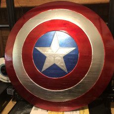 Picture of print of Captain America Shield 这个打印已上传 R Harsin
