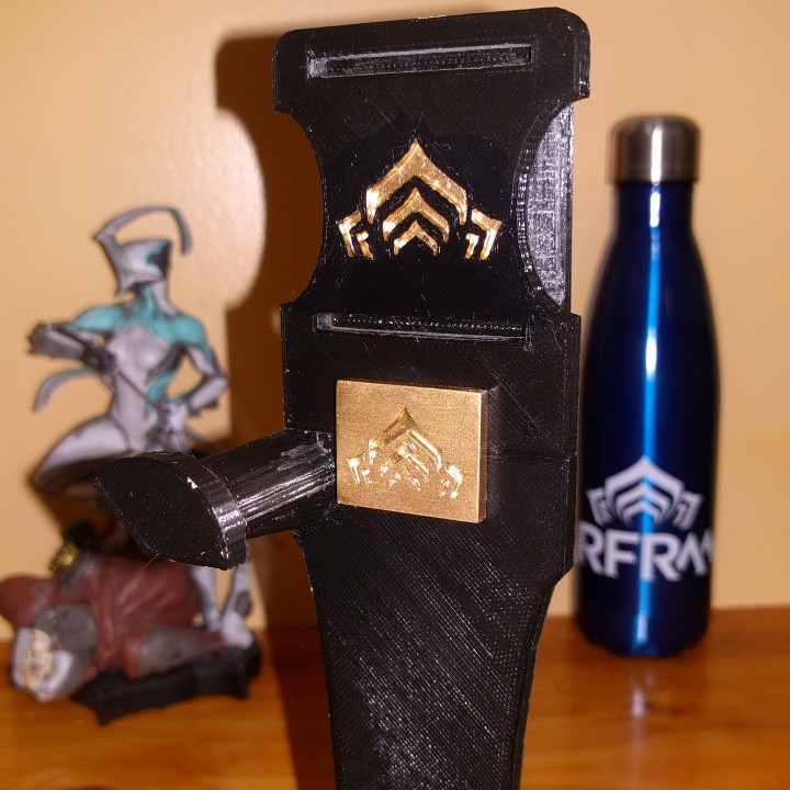 Belt holster and vertical wall mount for Lex Prime (Warframe)