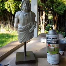 Picture of print of Marble Statue of Zeus