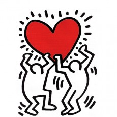 Keith Haring - Heart, 1988