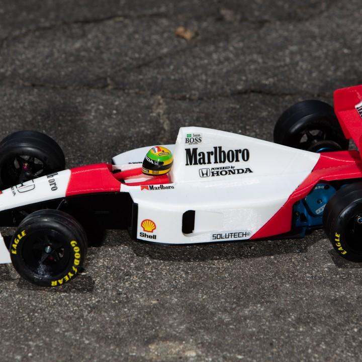 Aryton Senna's 1991 Mclaren MP4/6 3d Printed RC F1 Car