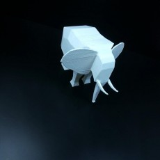 Picture of print of Low Poly Elephant