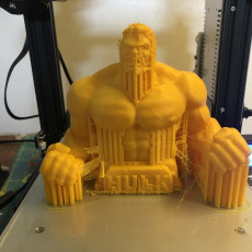 Picture of print of Hulk bust