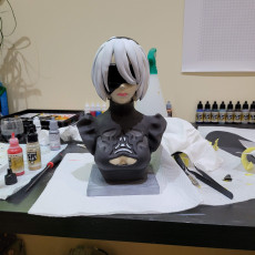 Picture of print of Nier Automata 2B Bust