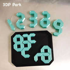 Picture of print of 10 Digits Puzzle