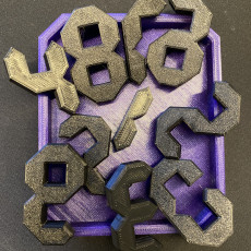 Picture of print of 10 Digits Puzzle (Tricky Number Puzzle)