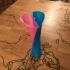 twisted Heart vase fun print image