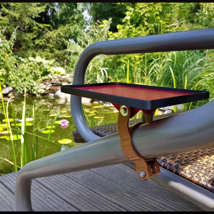 Garden bench/swing coffee/beer table v2