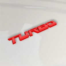 TURBO Sticker 3d Tuning