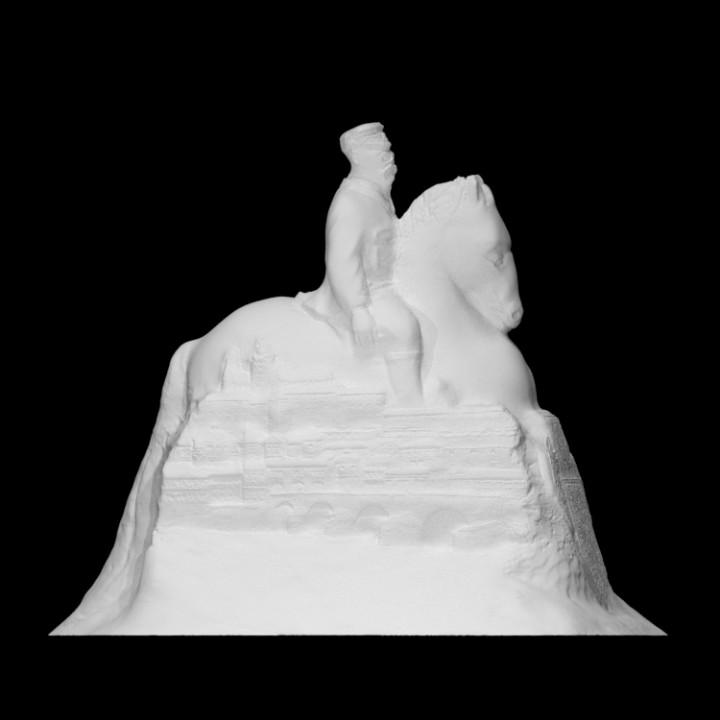 Sand sculpture of Tomáš Garrigue Masaryk