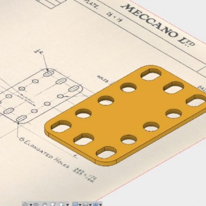 Meccano: Flexible plate N0102 & 188