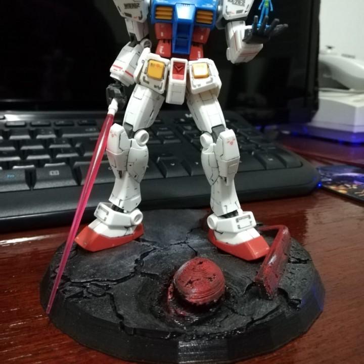 Destroyed Zaku - Gundam Action Base
