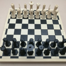 Picture of print of Low-Poly Magnetic Chess Set