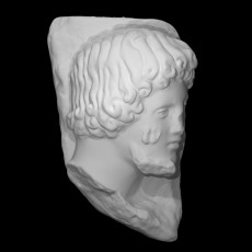 Fragment head of a man