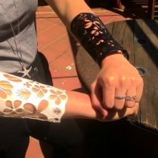 Long floral bracelet