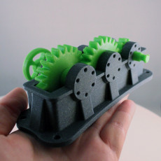 Picture of print of Industrial Spur Gearbox / Gear Reducer (Cutaway version)