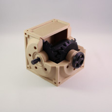 Picture of print of Industrial Bevel Gearbox / Gear Reducer (Cutaway version)