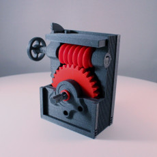 Picture of print of Industrial Worm Gearbox / Gear Reducer (Cutaway version)