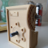 Industrial Worm Gearbox / Gear Reducer (Cutaway version) print image
