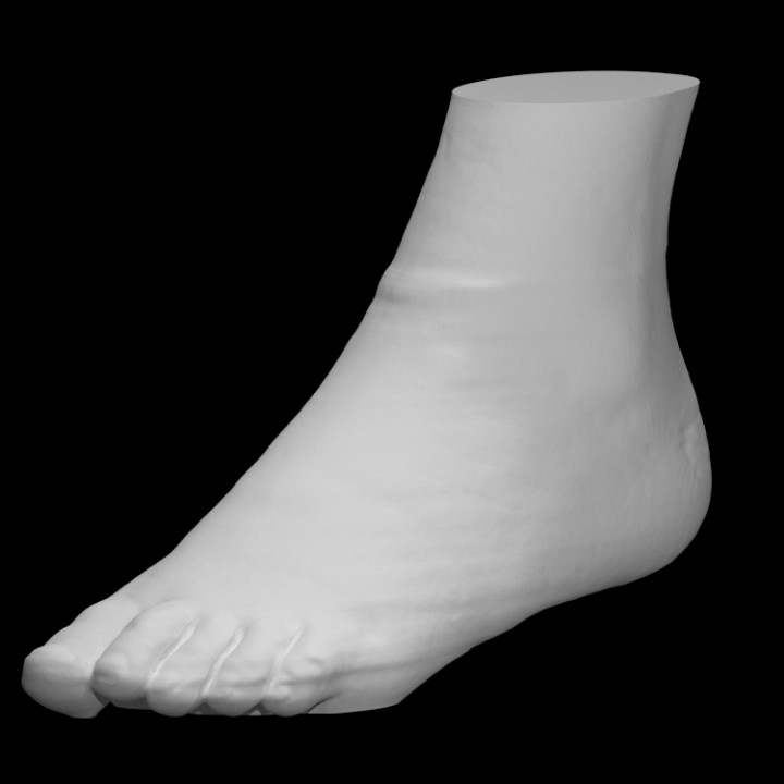 Skin surface of a foot