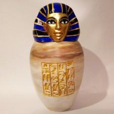 Ancient Egyptian Canopic Jar: Imsety
